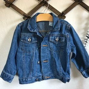 Vintage Oshkosh denim jean jacket size 24 mo